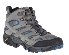 Mens MERREL Moab 2 MID VENT Hiking Boots Shoes Castle/Wing Suede/Mesh size 10.5 - $92.50