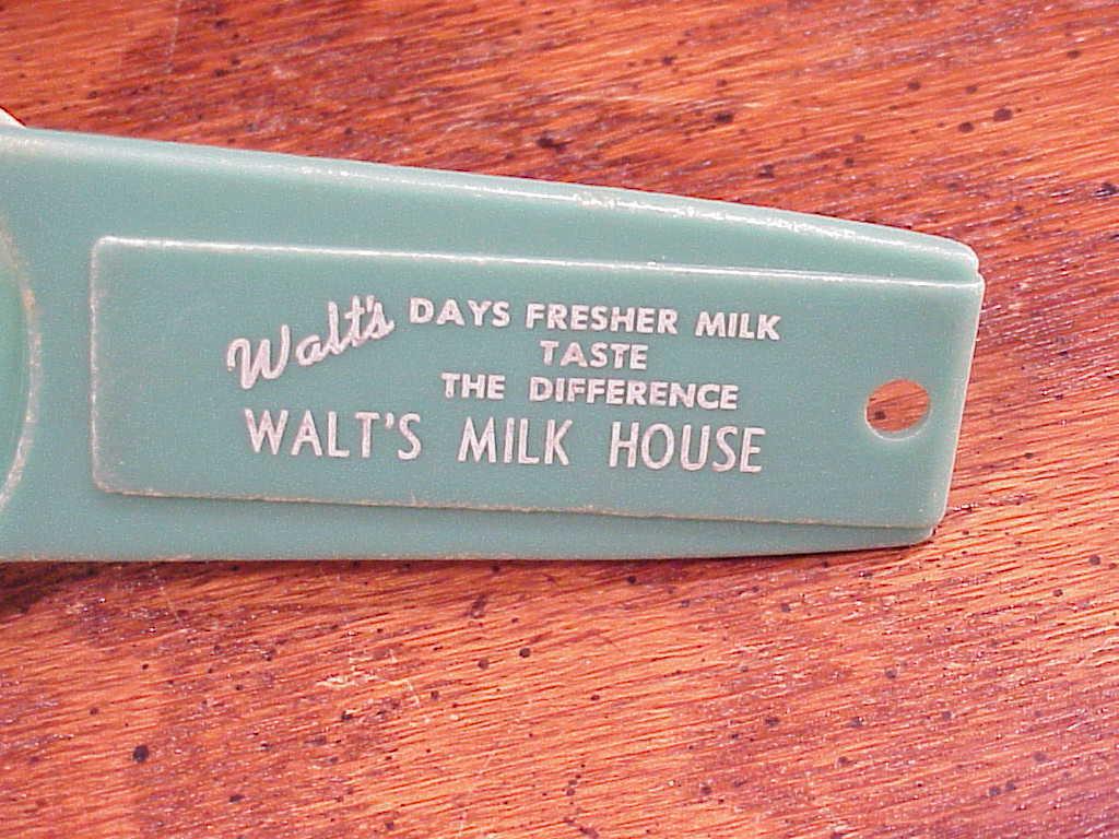 Walt's Milk House Souvenir Egg Strainer from Everett Washington, WA