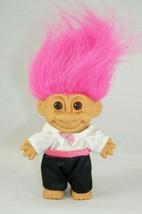 "Vintage Russ Troll Doll Groom Wedding Tuxedo Pink Hair 5"" Tall - $9.28"