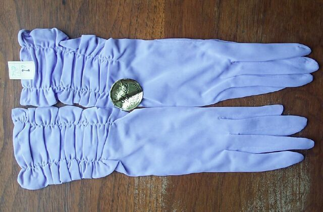 Vintage Max Mayer's Gloves Woman's Size 7 Lilac