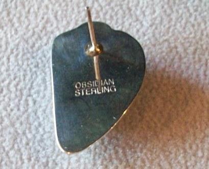 Watermelon Tourmaline Stud Earrings, Sterling Silver, New