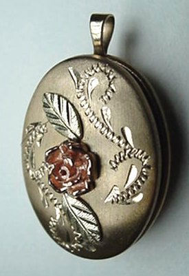 Vintage Fancy 14K Gold Filled Locket Pendant NICE 14KGF