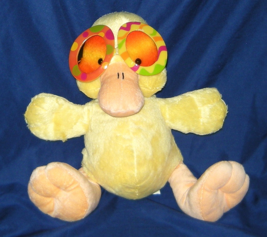 1/2 off! Galerie Big Sun Glasses Yellow Duck Plush Collectible