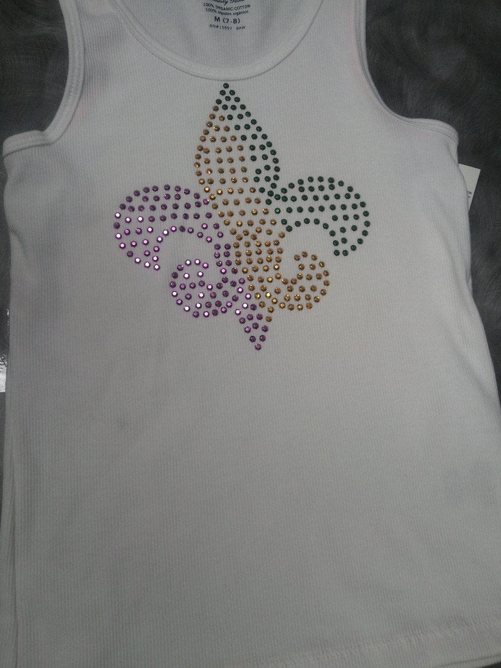 Kids New Orleans Saints ~ Rhinestone Crystal Sparkle Kids Tee Custom Color/Size
