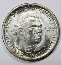 1946 Booker T Washington Commemorative Silver Half Dollar Coin Lot# E 225