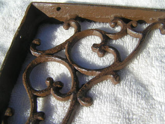 4 Cast Iron Wall Shelf Brackets Corner Corbels Braces Bz