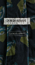 """Blue Green Gold Abstract ARMANI Silk Tie 3.5"""" Wide - $14.99"""