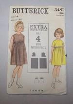 Pattern Butterick  # 3481 Size 12 Vintage Girl Hi-Line Jewel Neck Gather... - $8.95