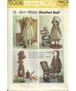 Simplicity Holly Hobbie Stuffed Doll and Wardrobe Pattern #6006 VTG 1973 - $19.95