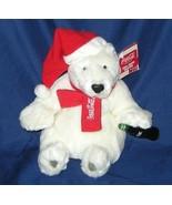 1/2 Price! Coke Coca Cola Plush Polar Bear Santa Claus NWT - $8.00