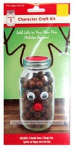 REINDEER*6p CHARACTER CRAFT KIT Brown+Red MASON JAR DECORATION Holiday/C... - $2.99