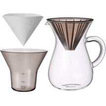 """1.1 Liter Carafe Coffee Set with 20 Filters by Kinto for """"Slow"""" Coffee - $38.60"""