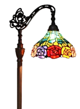 Amora Lighting AM035FL12 Tifany Style 62-Inch Roses Reading Floor Lamp - $173.00