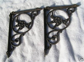 Cast Iron Brackets Kitchen Island Corbels Shelf Braces Hummingbird bz - $49.99