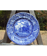 "Flow Blue Staffordshire R Marsellus Federal Hall Plate 10"" bz - $69.99"