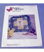 Better Homes and Gardens Sunbonnet Girl Cross Stitch Pillow Kit Plus Pil... - $14.99