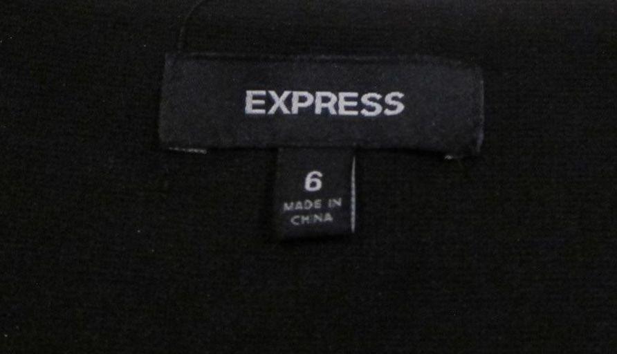 EXPRESS Black Velvet Mini Dress Ruched Asymmetrical Drape sz 6 - HOLIDAY STYLE !