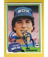 RUSS BAUMGARTEN AUTOGRAPHED CARD 1981 TOPPS CHICAGO WHITE SOX - £2.76 GBP
