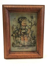Hummel 3-D Cut Out Dovetail Shadow Box Framed Art Picture Boy & Sheep Vi... - $16.99