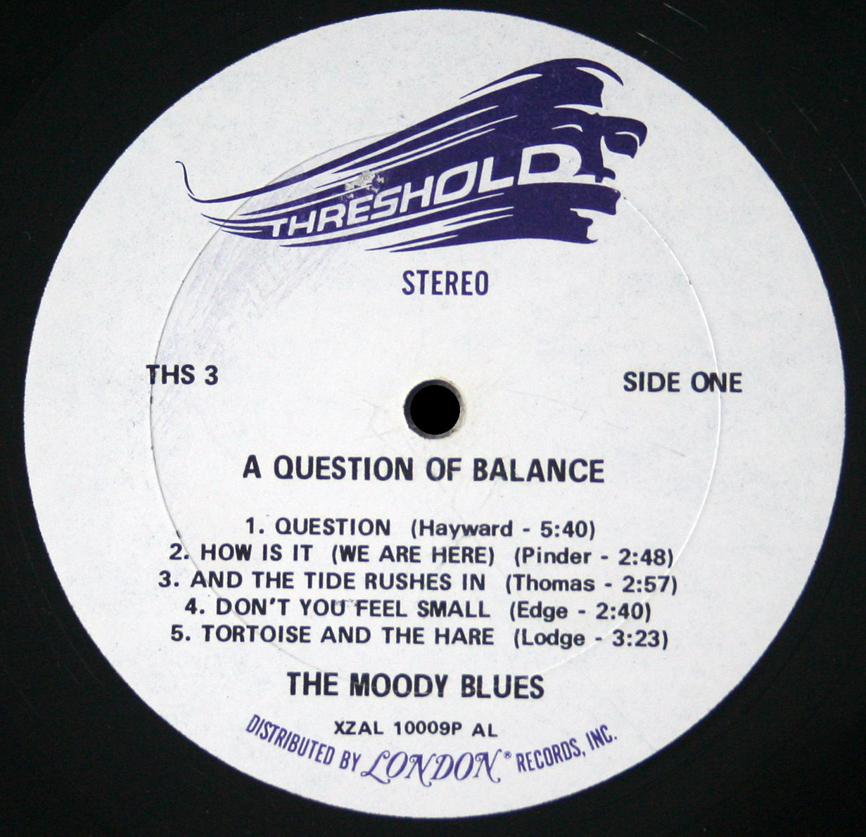 The Moody Blues - A Question of Balance LP Threshold