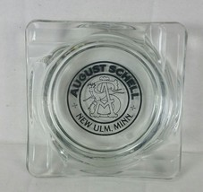 August Schell's Brewing Beer Glass Ashtray New Ulm MN bar advertising de... - $35.00
