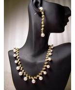 GENUINE AUSTRIAN CRYSTAL JEWELRY SET Faux Pearl... - $12.50