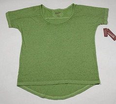 ARIZONA NWT WOMENS MEDIUM M TOP SHIRT MEADOW GREEN FACTORY SOFT HIGH HI LOW - $14.84