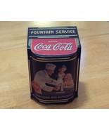 1999 Coca-Cola Hinged Fountain Service Tin - $1.99