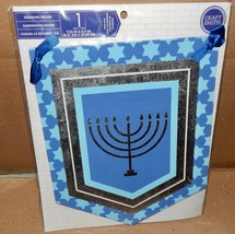 "Christmas Hanging Decor 7 1/4"" x 8 1/2"" Hanukkah Candle Sign Craft Smith... - $5.49"