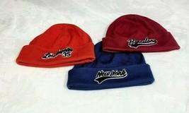 Old Navy Men's Lot of 3 Cities NY LA Barcelona Beanie Winter Cap Hat OS EUC - $17.82