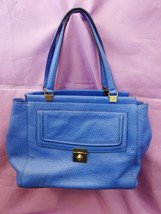 Kate Spade Designer Everett Way Thatcher Blue Pebbled Leather Tote Bag WKRU3705 - $379.00