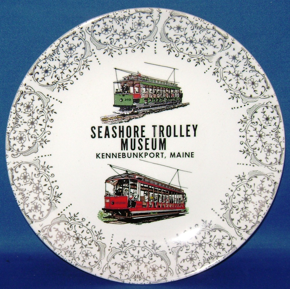 Seashore Trolley Museum~Collectors Plate~1960s~NEERHS~Kennebunkport,Maine~9""