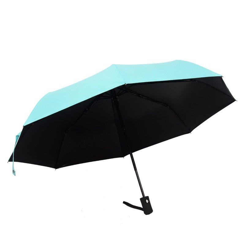 Yesello Solid Color Umbrella Folding Automatic Umbrella Windproof Travel Rain Su