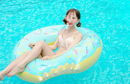 Swim About Large Donut Swim Ring Tube Pool Inflatable Floats for Adults (Mint) image 4