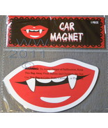 Vampire Lips Fangs-shaped car Magnet in package  - $3.99