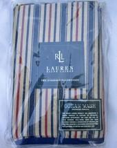 VTG Ralph Lauren Chadwick Stripe 2 Standard Pillowcases NWT Red Blue Tan USA - $80.00