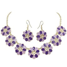Gypsy Jewels 7 Daisy Flower with Rhinestones Cluster Gold (Purple & Lave... - $30.68