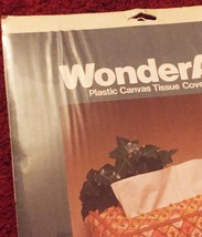Vintage 70s WonderArt Plastic Canvas Tissue Cover Kit #6003 - by Needlecraft image 4