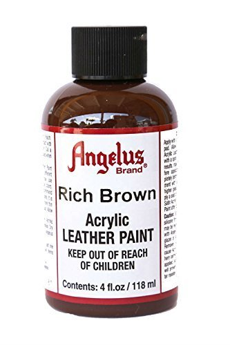 Angelus Acrylic Leather Paint-4 oz.- Rich Brown