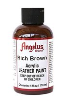 Angelus Acrylic Leather Paint-4 oz.- Rich Brown - $8.53