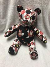 Handmade Disney Minnie Mouse Teddy Bear Plush Stuffed Animal Plushie Toy - $30.68