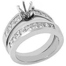 1.6 CARAT WOMENS DIAMOND ENGAGEMENT RING SEMI-MOUNT SET PRINCESS CUT WHI... - £2,751.74 GBP