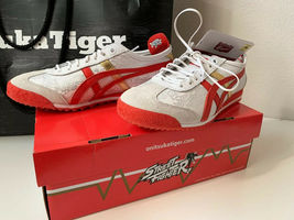 "NIB ASICS Onitsuka Tiger Shoes Sneakers Street Fighter Chun Li Red Size 7.5"" image 5"