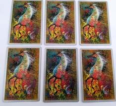 Set of 6 Abstract Art Horse Playing Cards for crafting collage repurpose upcycle image 4