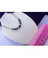 28 Gr Garnet Stone Handmade Jewelry Beaded Necklace-oj-64-11 - $6.95