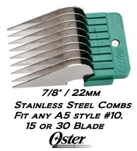 """OSTER A5 STAINLESS STEEL ATTACHMENT GUIDE 7/8""""(22mm) COMB*Fit Many Andis... - $7.99"""