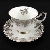 Royal Albert Tea Cup And Saucer 25th Anniversary Fine Bone China England - $22.46