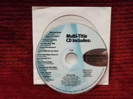 PC MULTI TITLE CD INCLUDES 13 PROGRAMS.MICROSOFT WINDOWS 2002 - $9.99