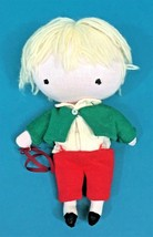 Vintage Pocket Doll Blonde Hair Green Red Outfit TLC Boucher Vintage 196... - $10.95