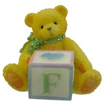 Cherished Teddies BEAR WITH ABC BLOCK 158488 F Teddy Bear Miniature Block - $5.40